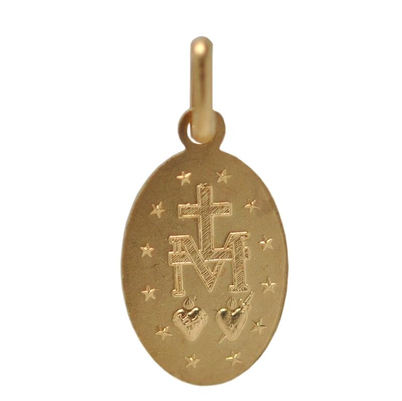 画像2: 奇跡のメダイ教会の不思議のメダイデザイン ゴールドカラーチャーム【メール便可】