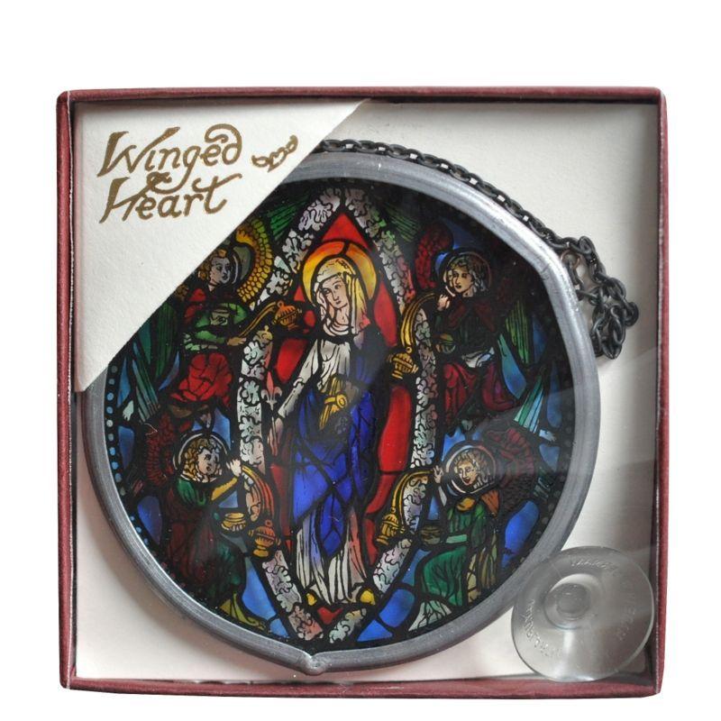 画像1: パリノートルダム大聖堂 ミニチュアステンドグラスNotre-Dame aux Anges【メール便可】