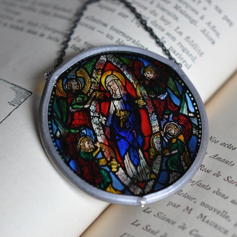 画像2: パリノートルダム大聖堂 ミニチュアステンドグラスNotre-Dame aux Anges【メール便可】