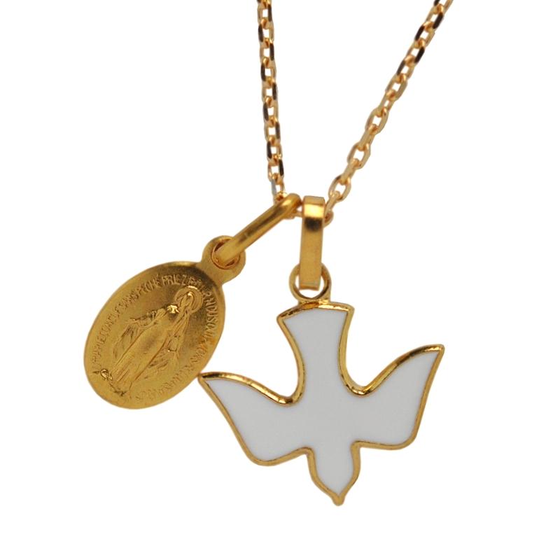 画像3: モンマルトル・サクレクール寺院 ゴールド×ホワイト鳩モチーフチャーム【メール便可】